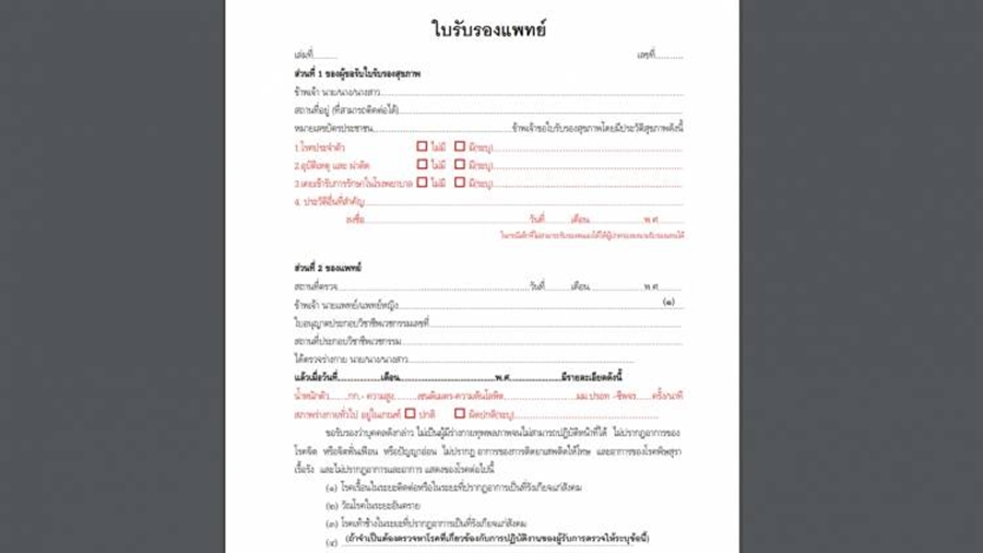 How to get a medical certificate for Thai driver´s license